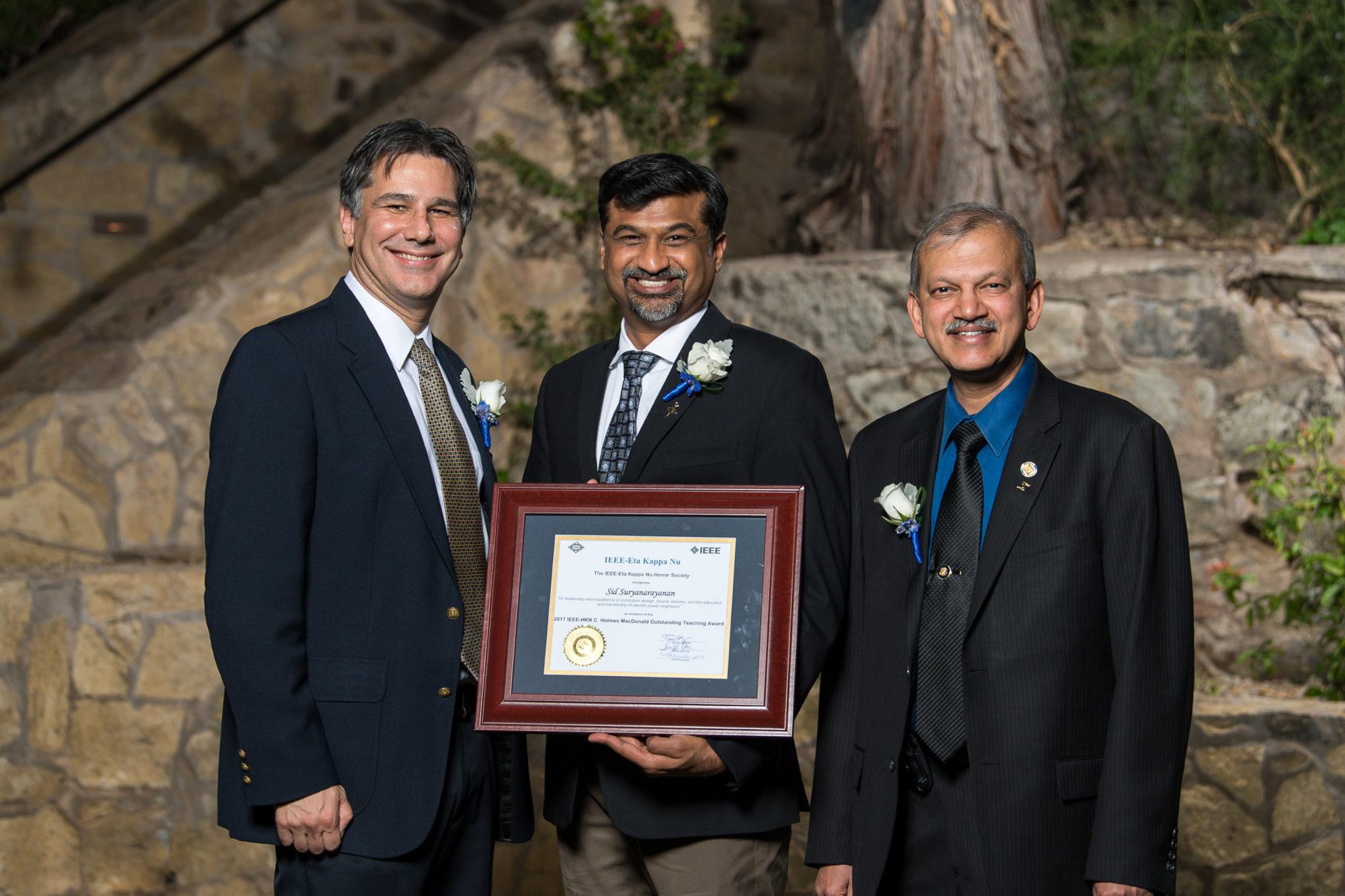 Sid Suryanarayanan IEEE-HKN award