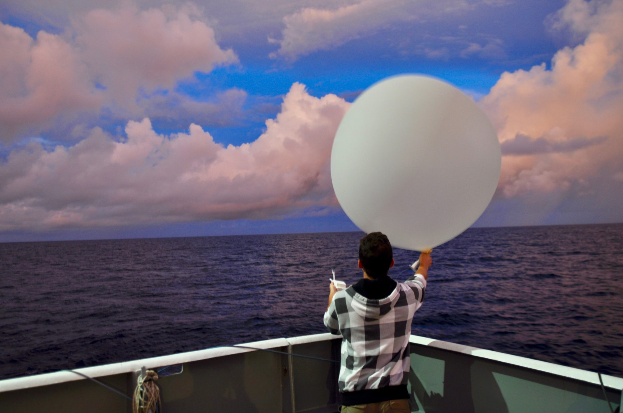 Kyle Chudler with weather balloon