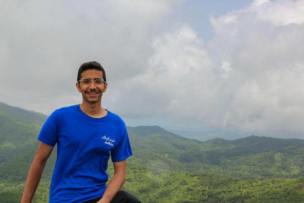 Majed Alqatari on a volunteer trip to Puerto Rico. Photo courtesy Majed Alqatari