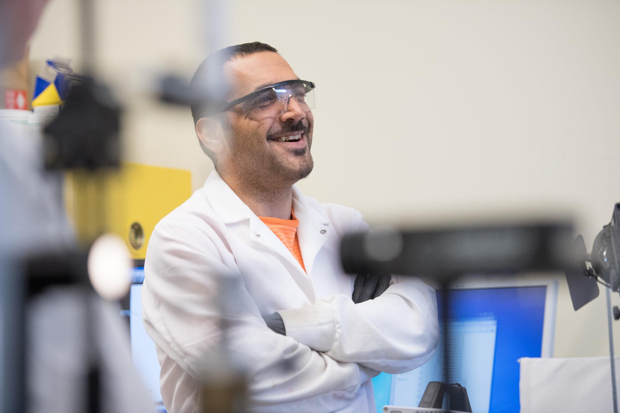Hamed Vahabi in Arun Kota's lab