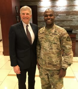 Ron Sega and one of his PhD students, U.S. Army Major Christian Abney