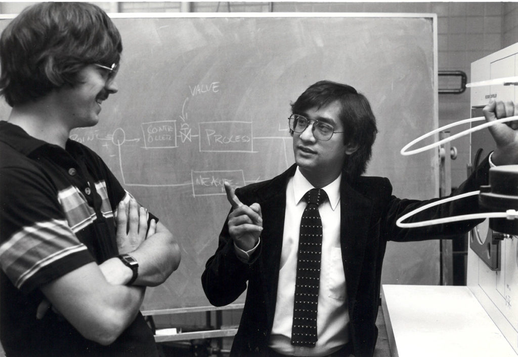 Former Chemical and Biological Engineering Professor and Associate Department Chair Muhammed Nazmul Karim chats in a CSU classroom in this undated photo.