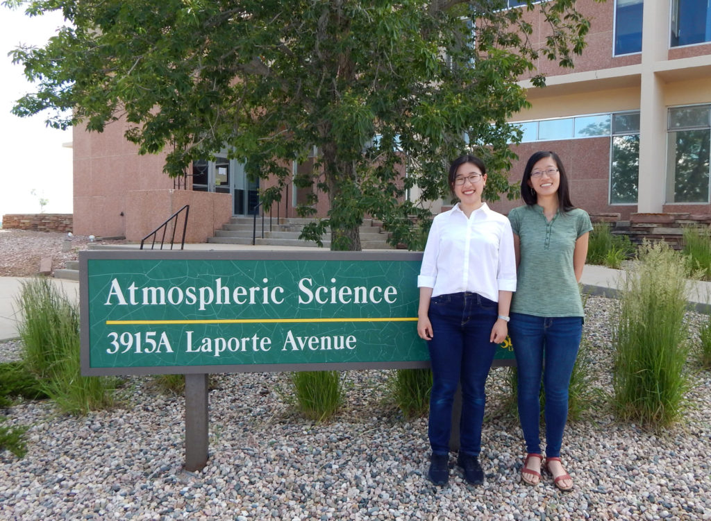 Atmospheric Science granted ASCENT scholarships to Ph.D. candidates Rung Panasawatwong, left, and Jingyuan Li to support their proposed international research projects.
