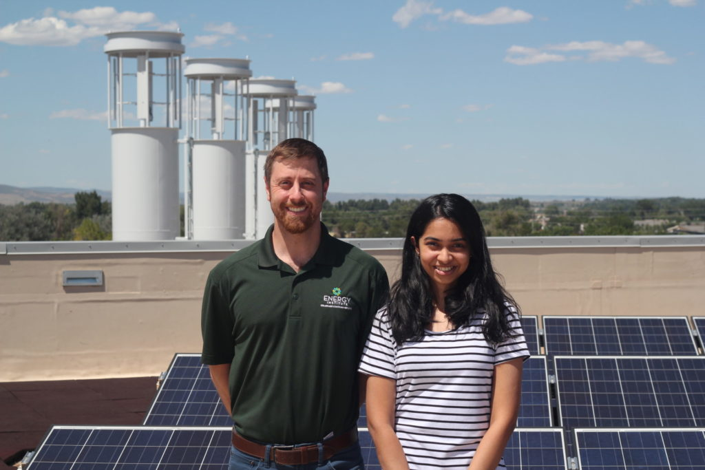 Wendell Stainsby and Ishita Kekare, graduate students at CSU's Energy Institute