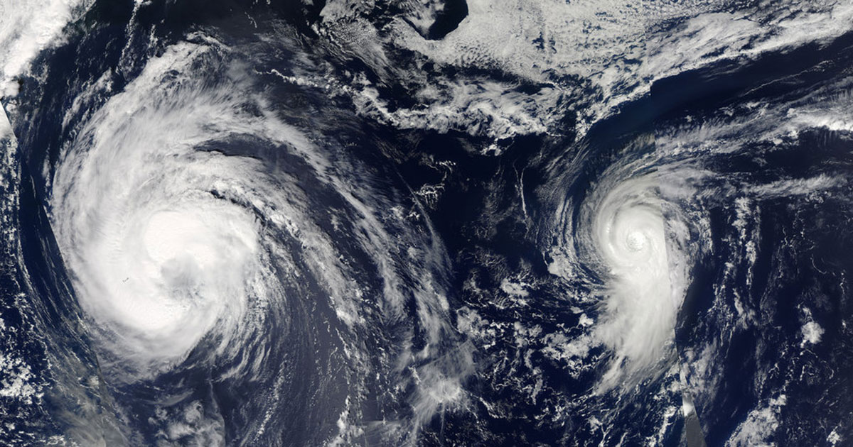 hurricanes forming in the atlantic