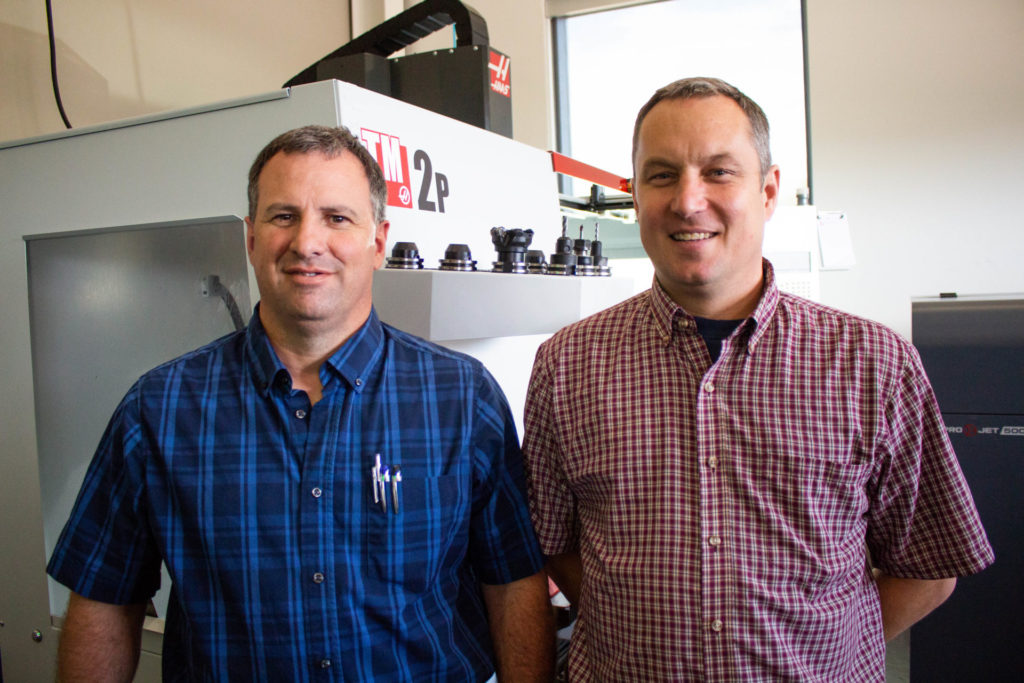 Kirk Evans and John Mizia lead CSU's Rapid Prototyping and Applied Engineering Lab at the Powerhoue Energy Campus.
