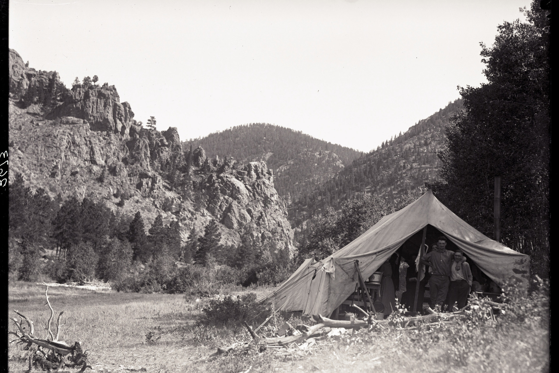 1922 Engineering Students Poudre Canyon