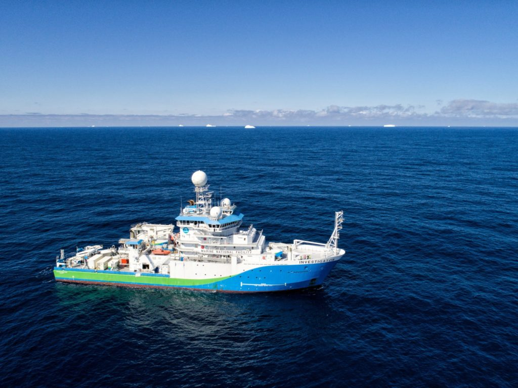CSU researcher Kathryn Moore collected bioaerosol samples aboard the R/V Investigator, an Australian Marine National Facility research vessel. Photo by Kendall Sherrin (CSIRO, AU).