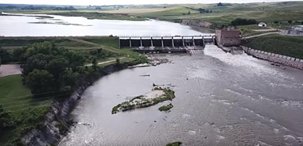 An independent investigation found the 92-year-old Spencer Dam was well maintained prior to its failure March 14, 2019. Photo courtesy of Nebraska Public Power District