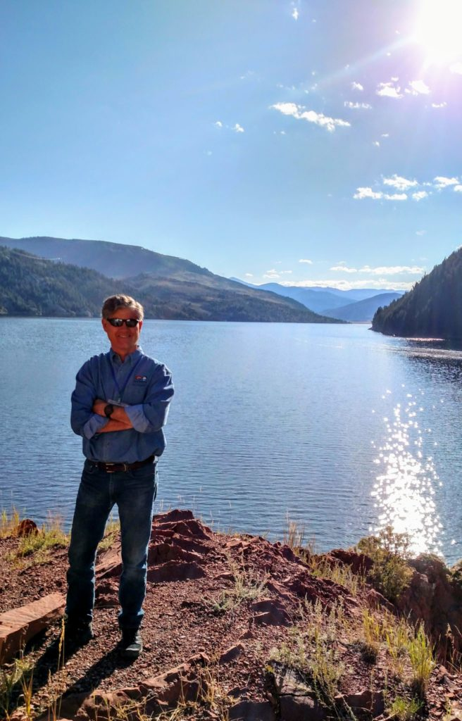 Colorado State Engineer Kevin Rein at Ruedi Reservoir.
