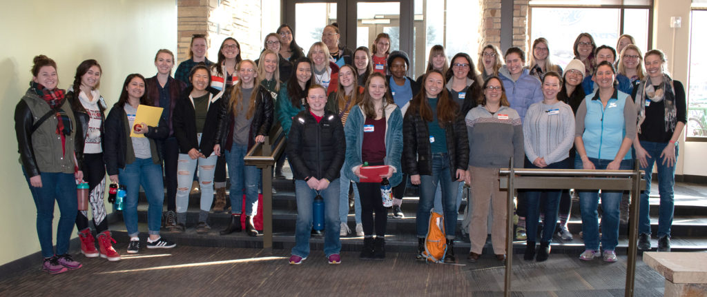 STEM students participate in a PROGRESS workshop in 2019.