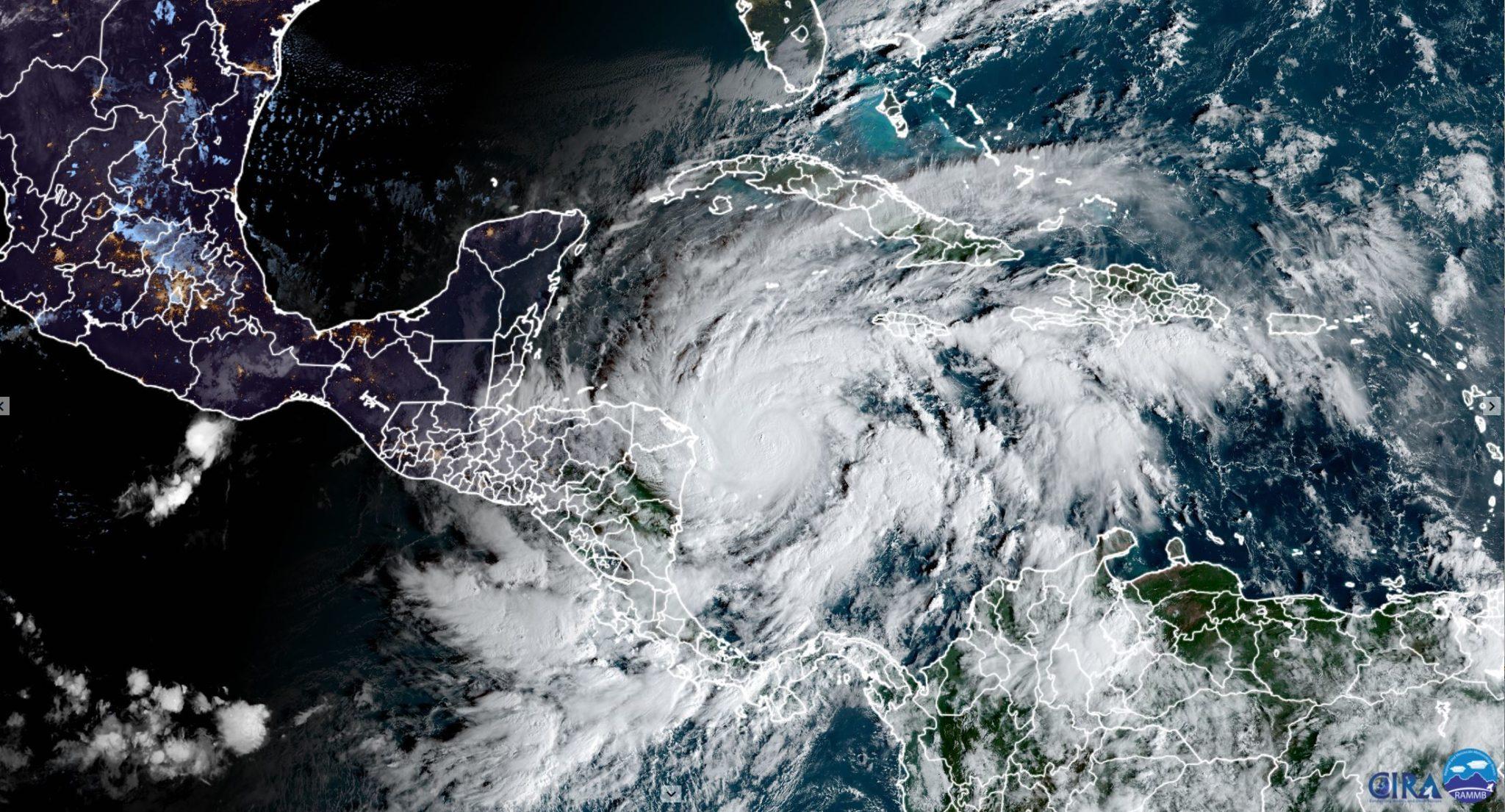 Hurricane Eta from GOES-16, 11-02-20, CIRA