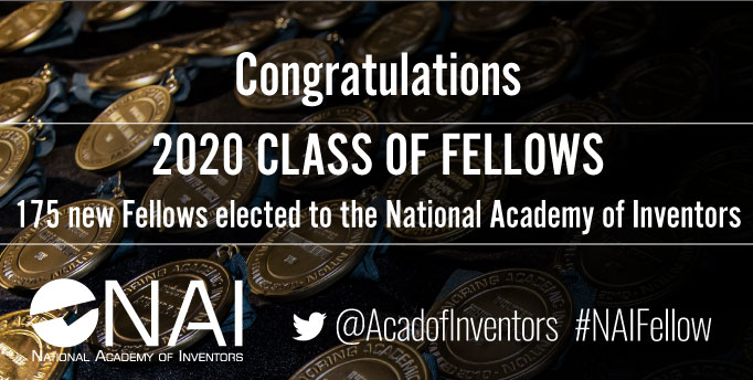 National Academy of Inventors 2020 fellows banner