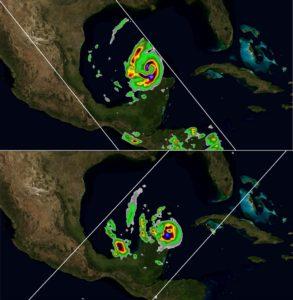 CubeSat Satellite imagery of Hurricane Delta (Oct. 2020)