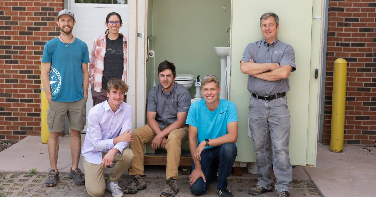 toilet project group photo