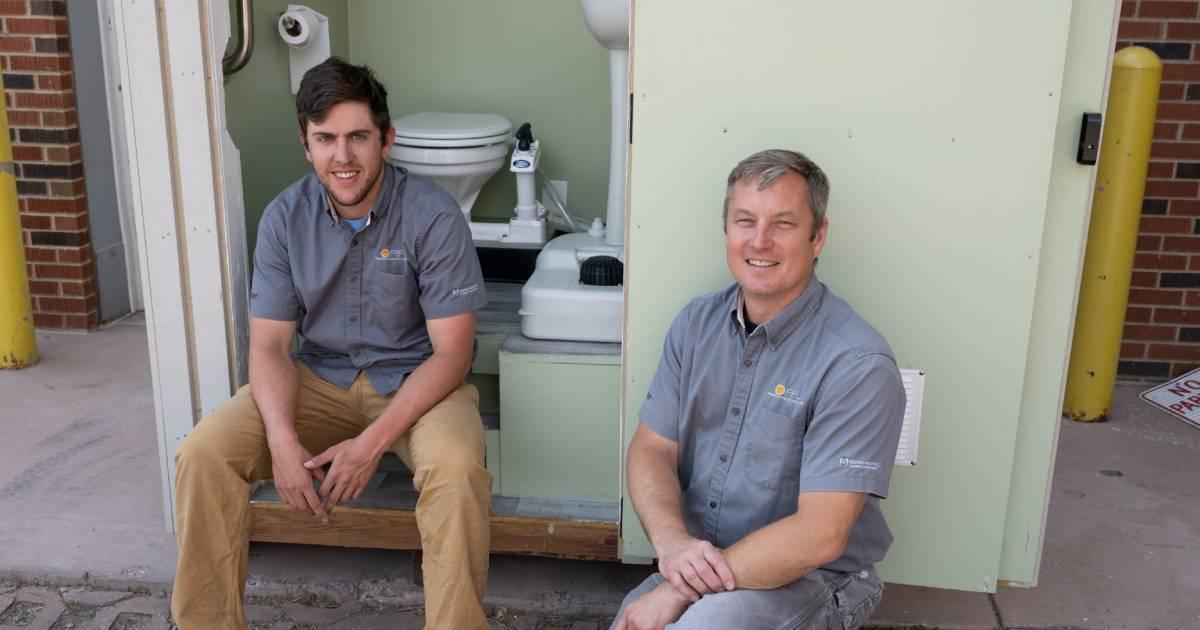 matt willman and john mizia with toilet project